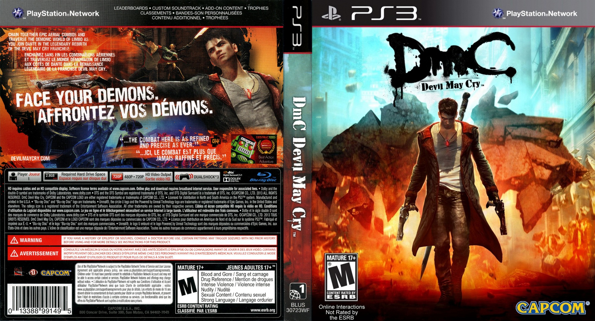DmC: Devil May Cry PS3 coverfullHQ (BLUS30723)