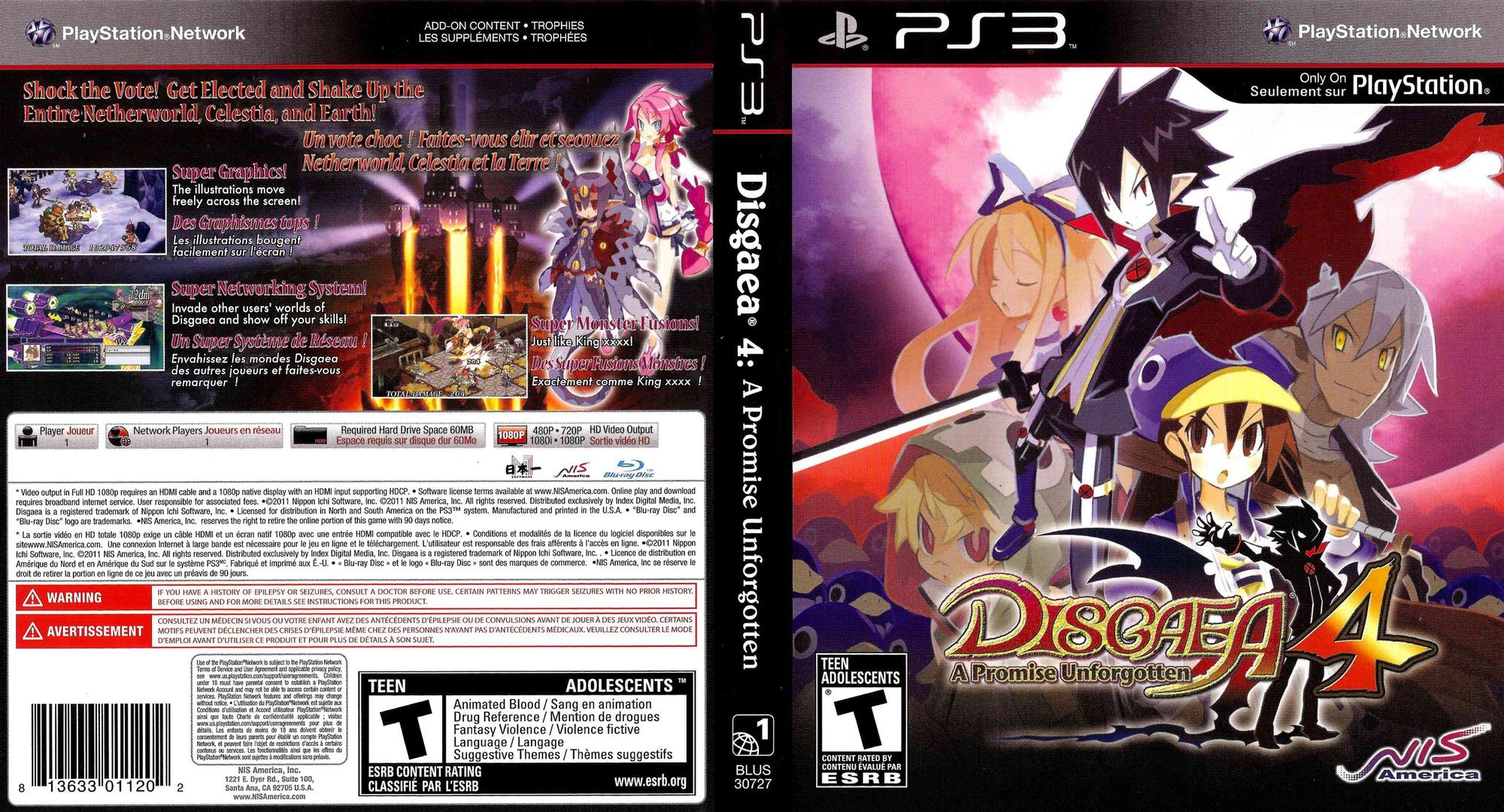 Disgaea 4: A Promise Unforgotten PS3 coverfullHQ (BLUS30727)