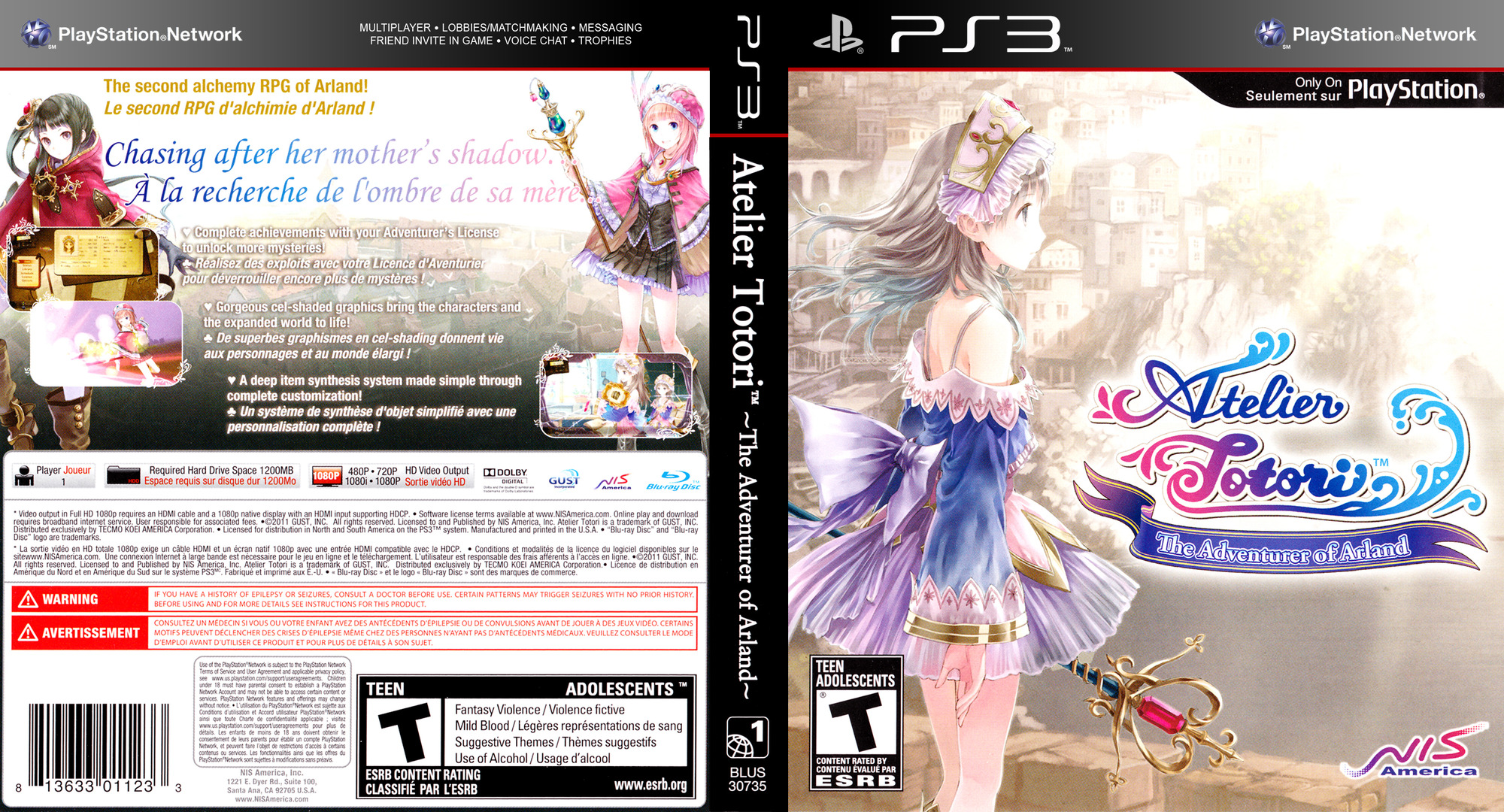 Atelier Totori: The Adventurer of Arland PS3 coverfullHQ (BLUS30735)