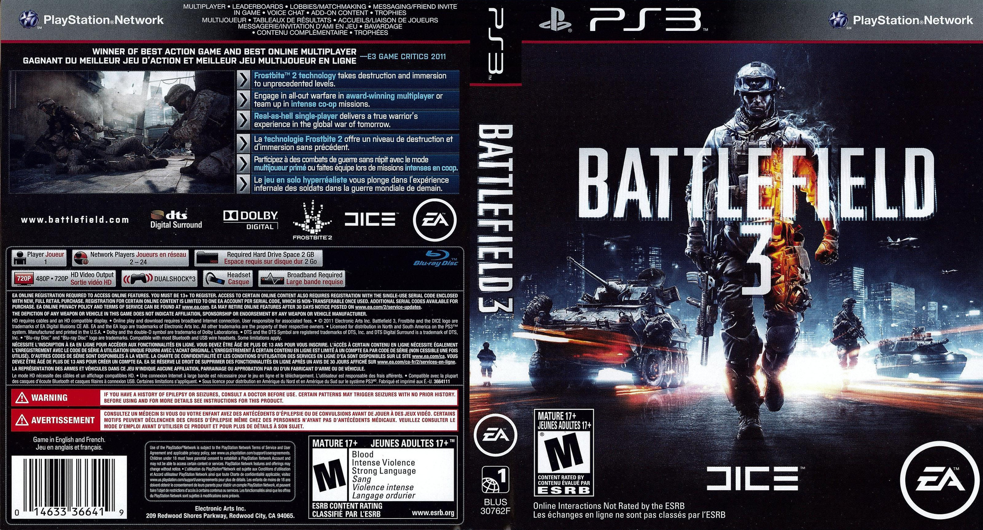 Battlefield 3 PS3 coverfullHQ (BLUS30762)