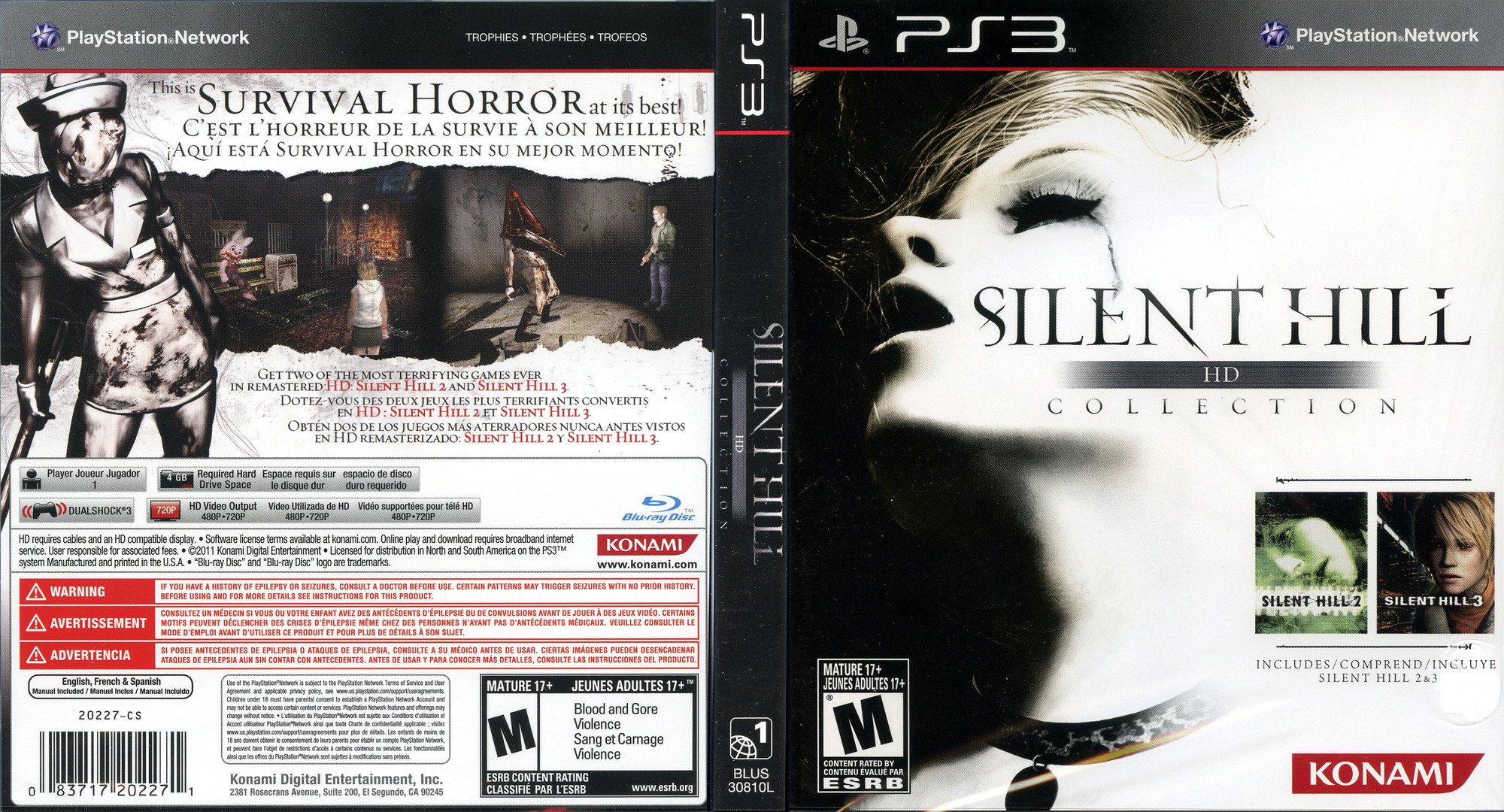 Silent Hill: HD Collection PS3 coverfullHQ (BLUS30810)