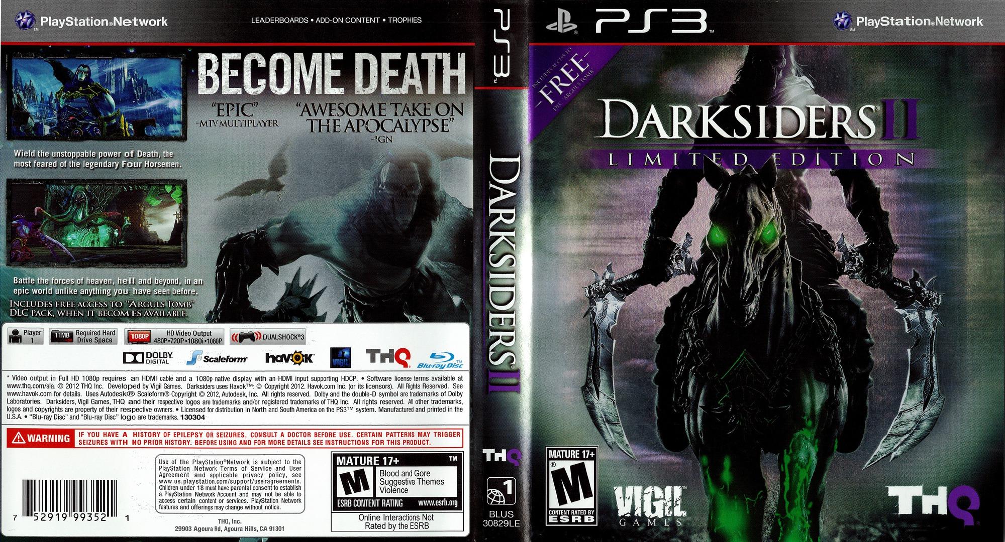 Darksiders II PS3 coverfullHQ (BLUS30829)