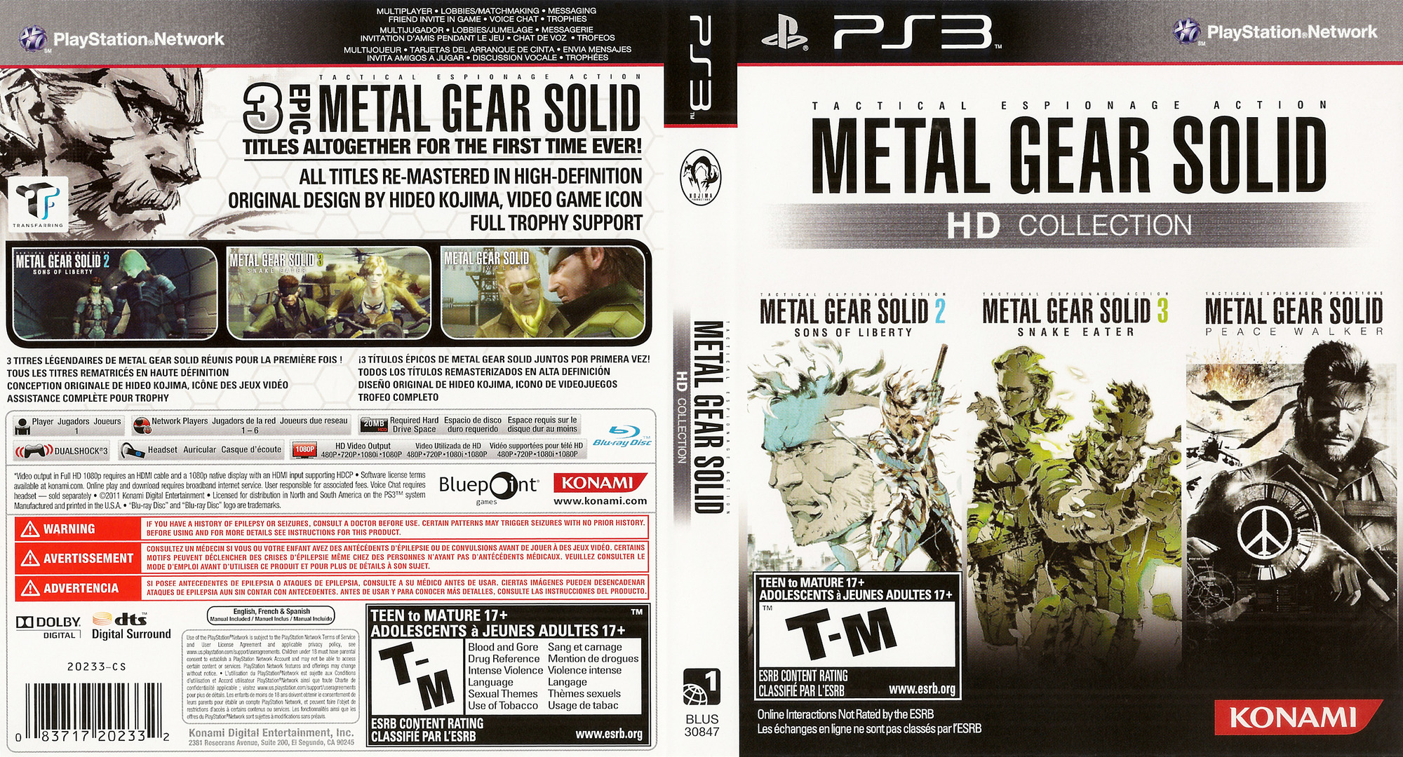 Metal Gear Solid: HD Collection PS3 coverfullHQ (BLUS30847)