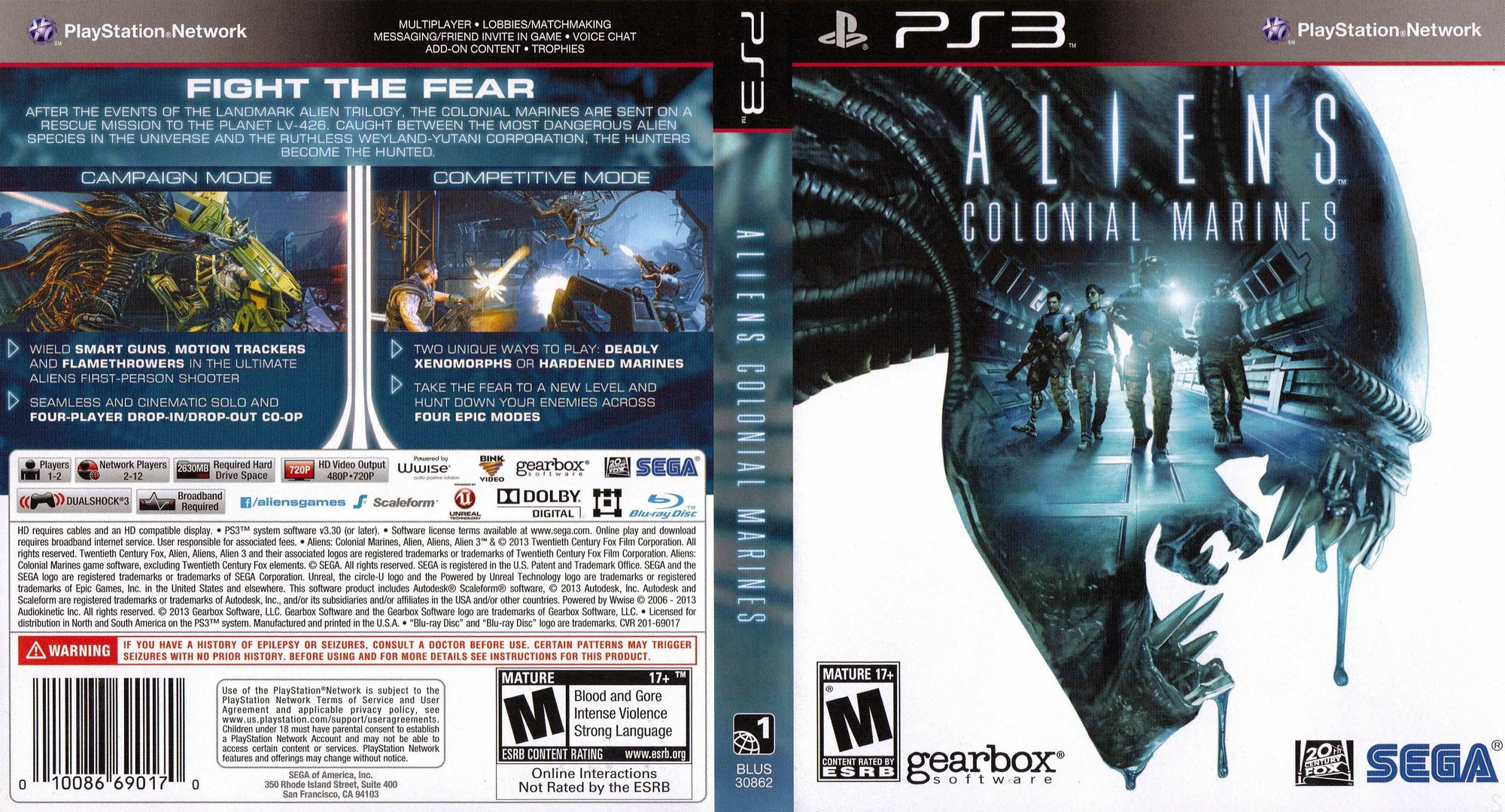 Aliens: Colonial Marines PS3 coverfullHQ (BLUS30862)