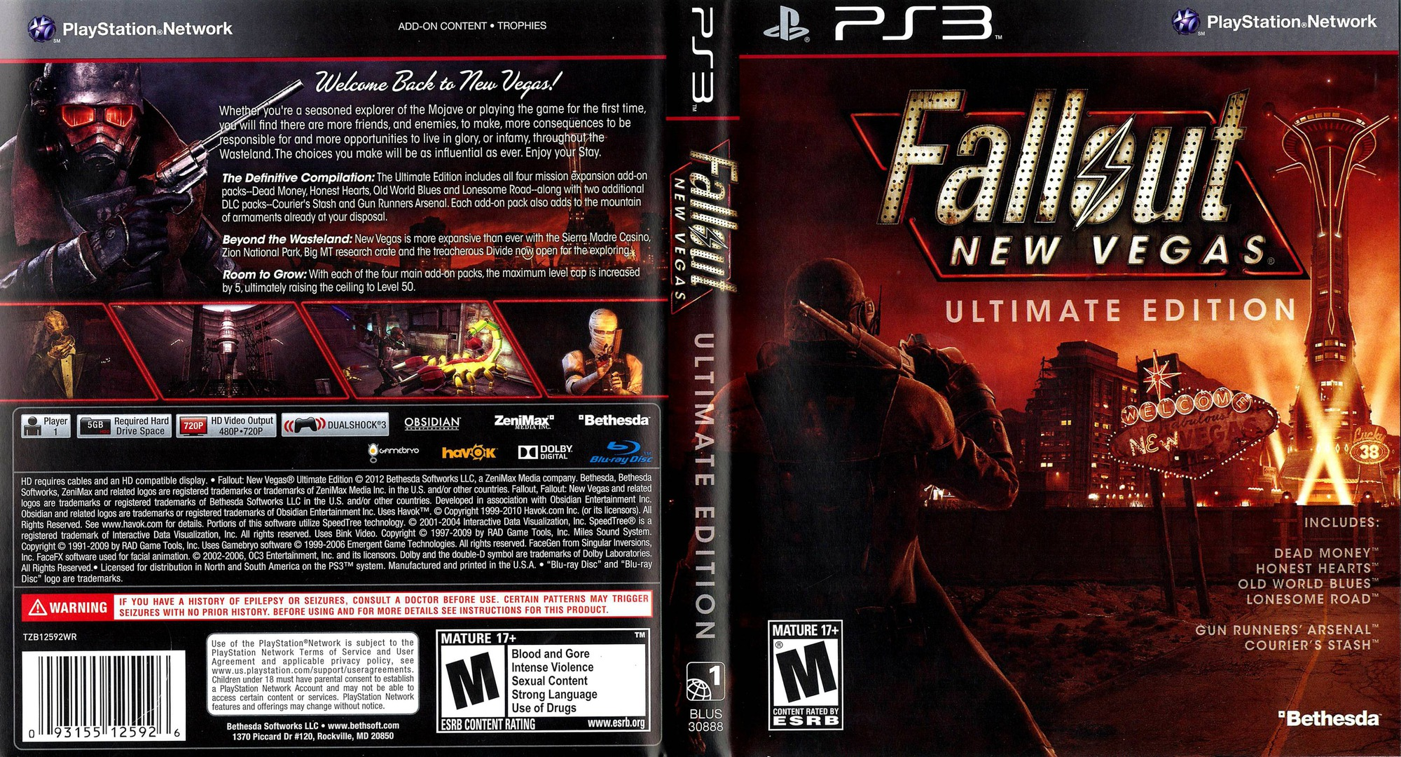 Fallout New Vegas: Ultimate Edition PS3 coverfullHQ (BLUS30888)