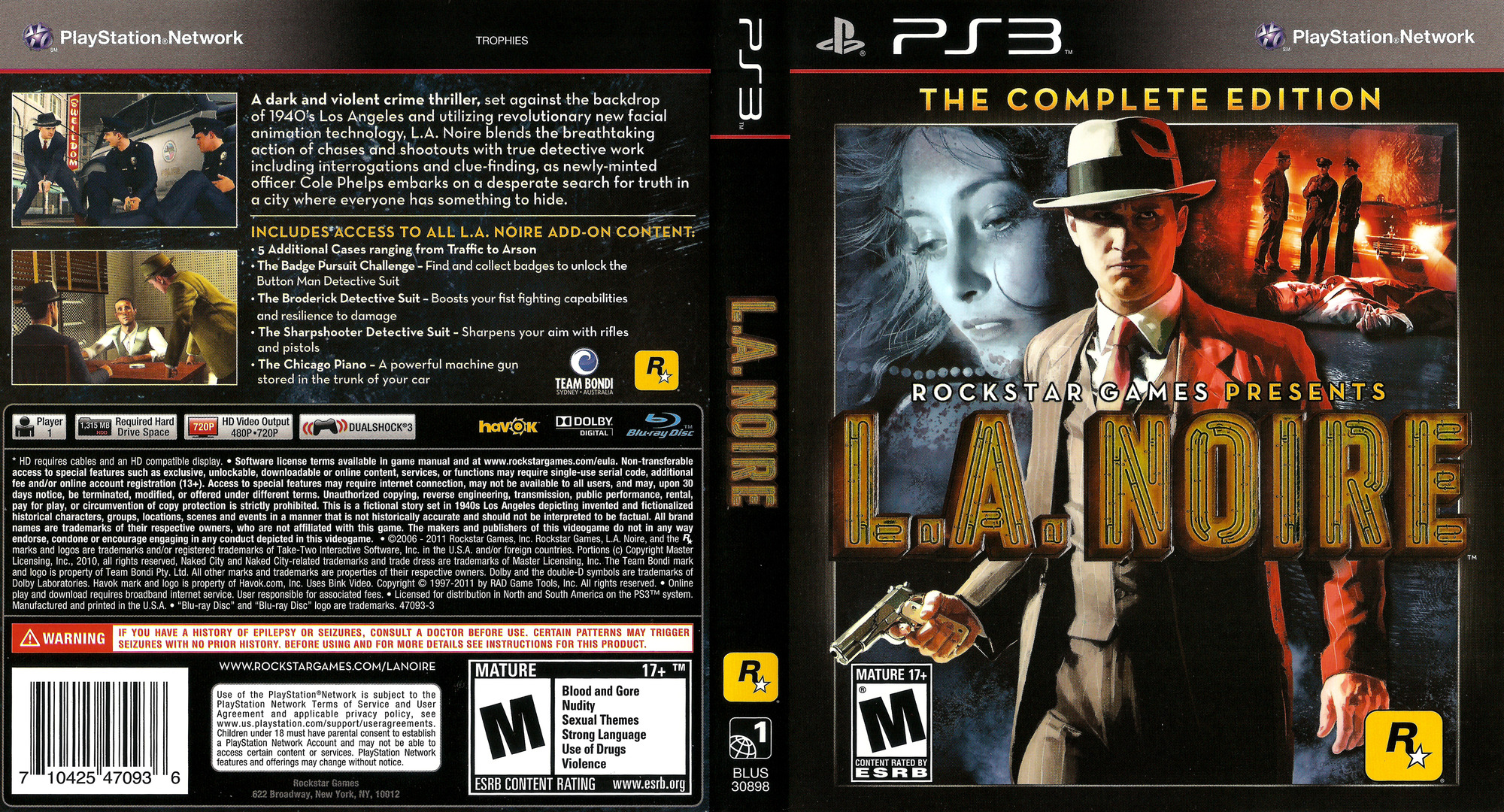 L.A. Noire - The Complete Edition PS3 coverfullHQ (BLUS30898)