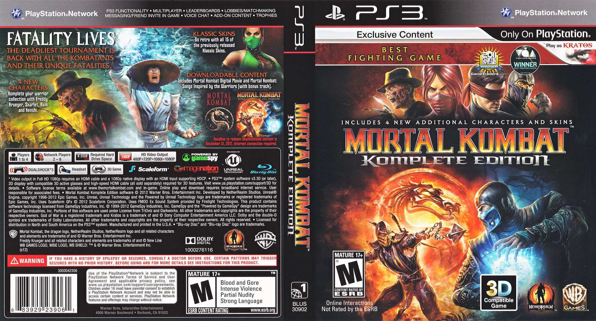 Mortal Kombat Komplete Edition PS3 coverfullHQ (BLUS30902)