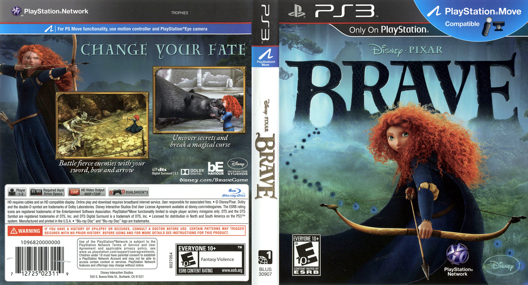 Brave: The Video Game PS3 coverfullHQ (BLUS30907)