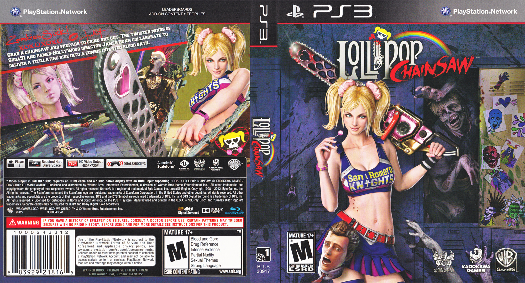 Lollipop Chainsaw PS3 coverfullHQ (BLUS30917)