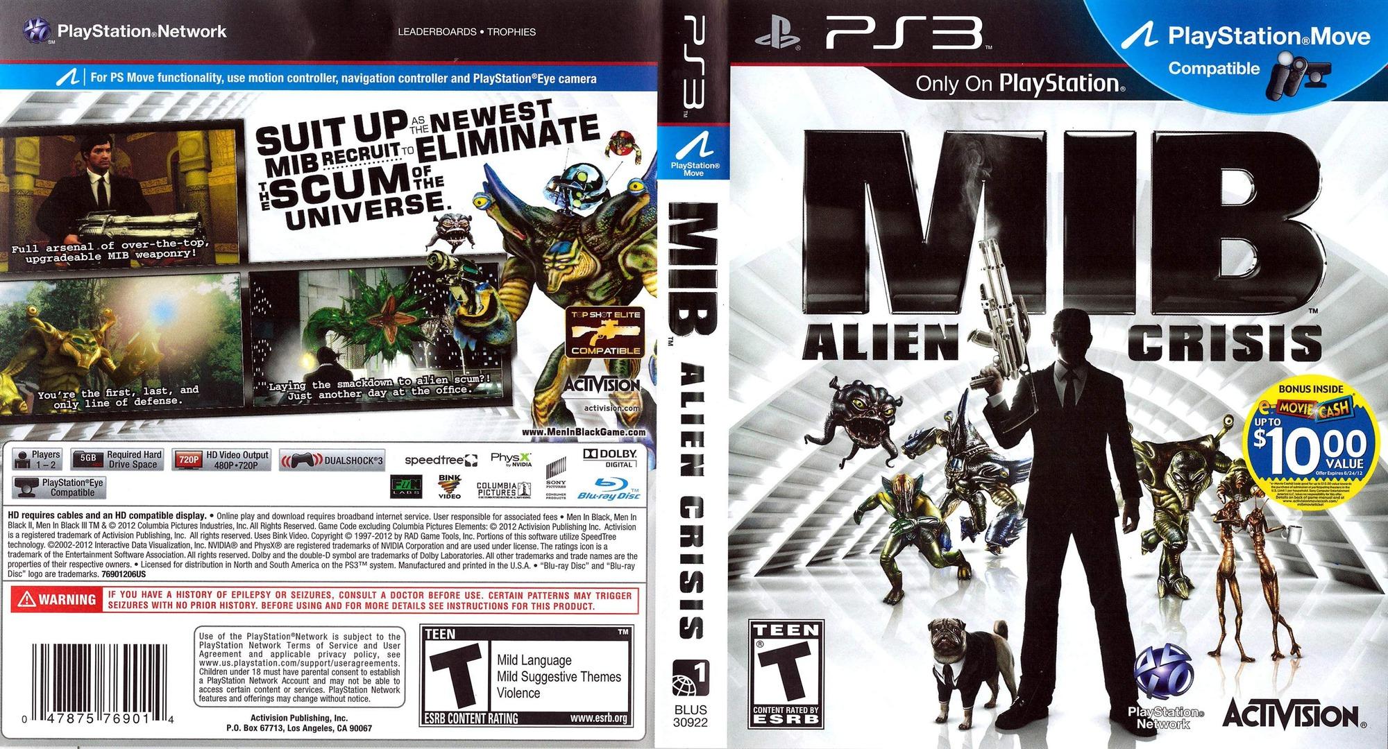 Men In Black: Alien Crisis PS3 coverfullHQ (BLUS30922)