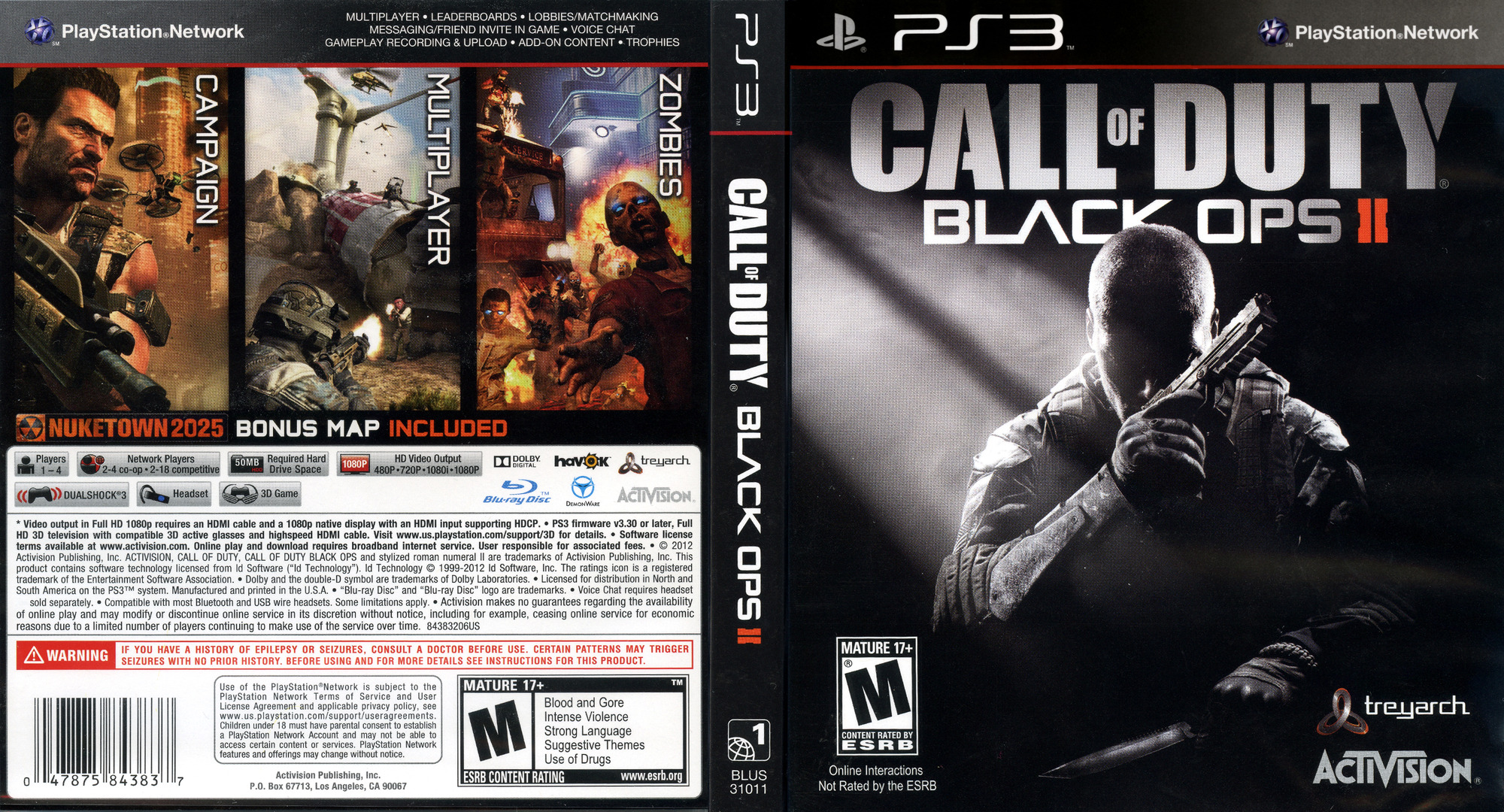 Call of Duty: Black Ops II PS3 coverfullHQ (BLUS31011)