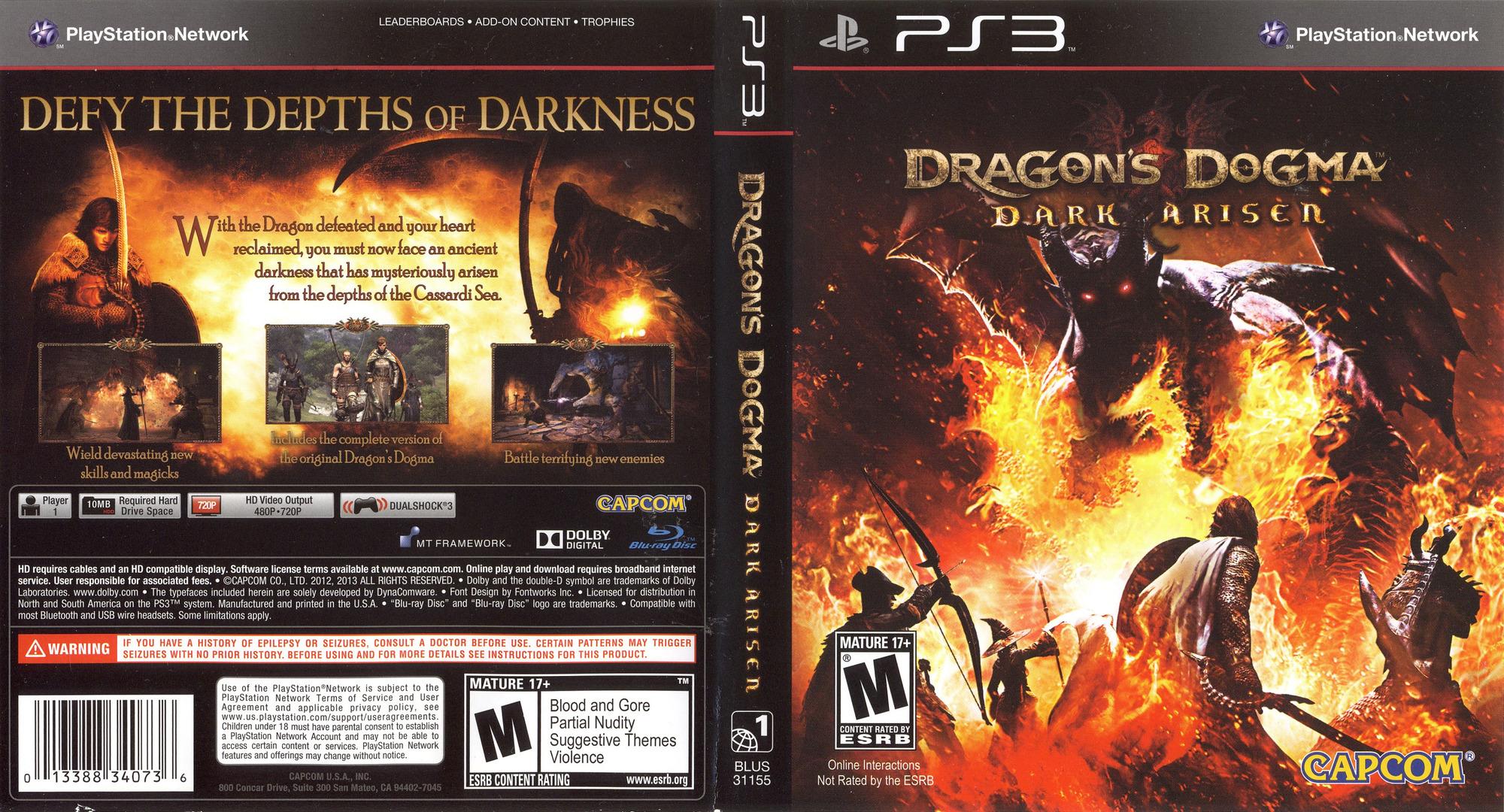 Dragon's Dogma: Dark Arisen PS3 coverfullHQ (BLUS31155)