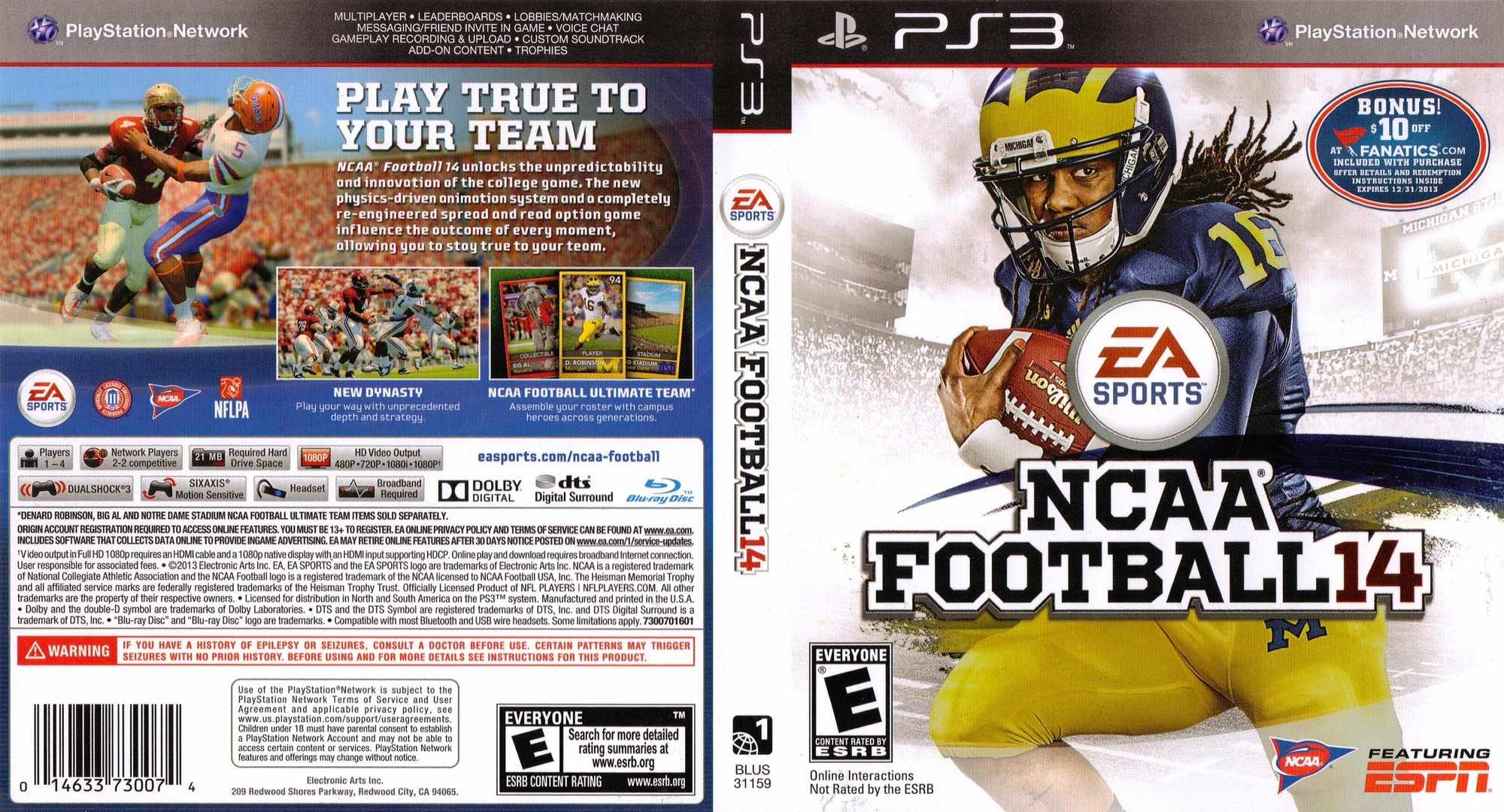NCAA Football 14 PS3 coverfullHQ (BLUS31159)