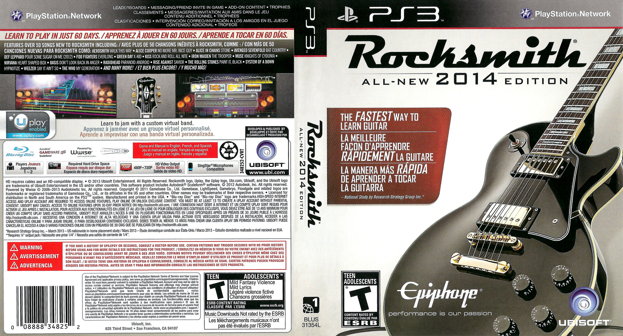 Rocksmith 2014 Edition PS3 coverfullHQ (BLUS31354)