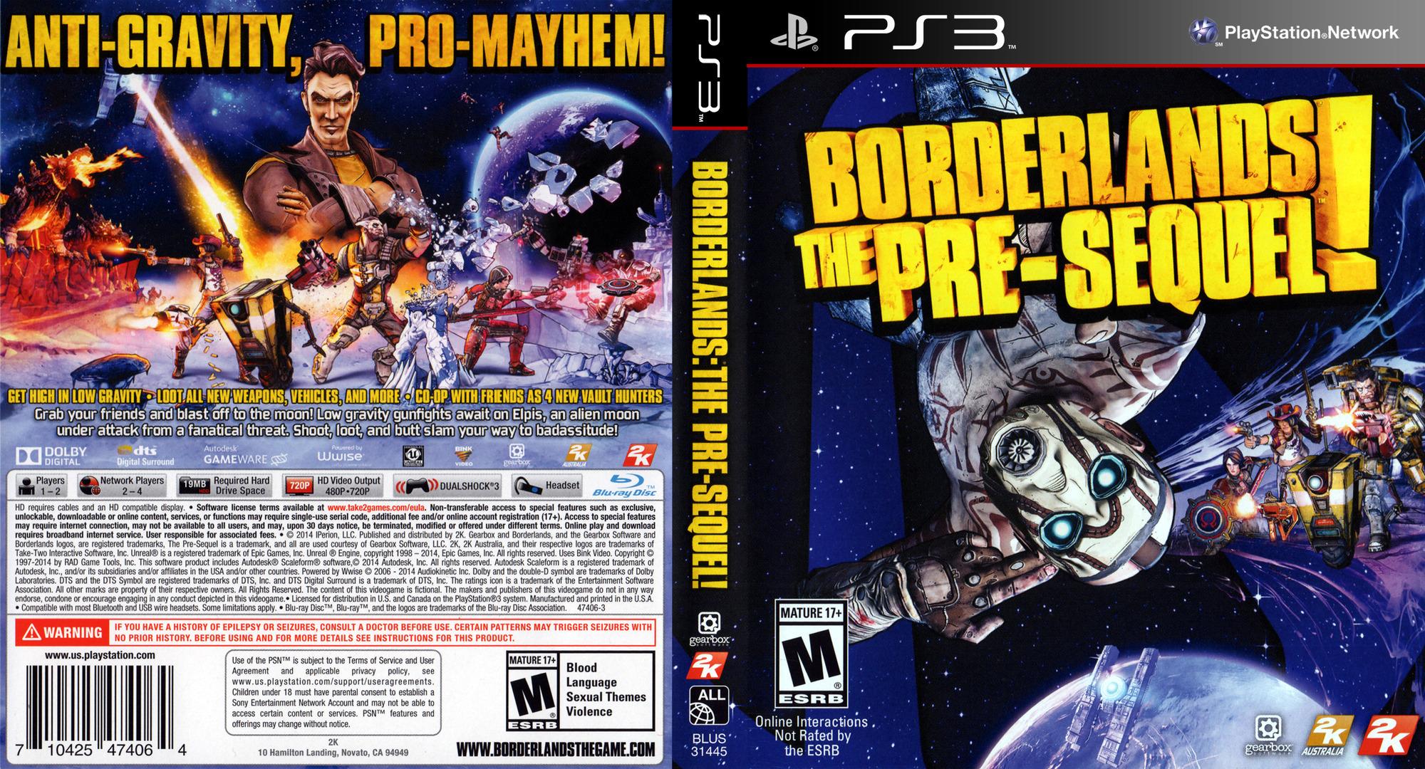 Borderlands: The Pre-Sequel PS3 coverfullHQ (BLUS31445)