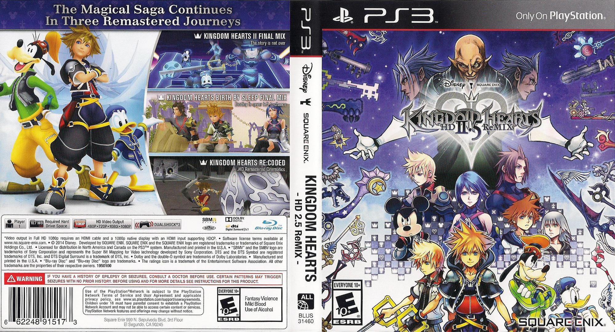 Kingdom Hearts 2.5 HD ReMIX PS3 coverfullHQ (BLUS31460)