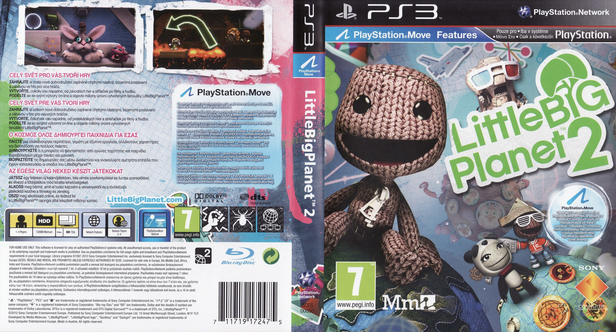 LittleBigPlanet 2 PS3 coverfullHQ (BCES00850)