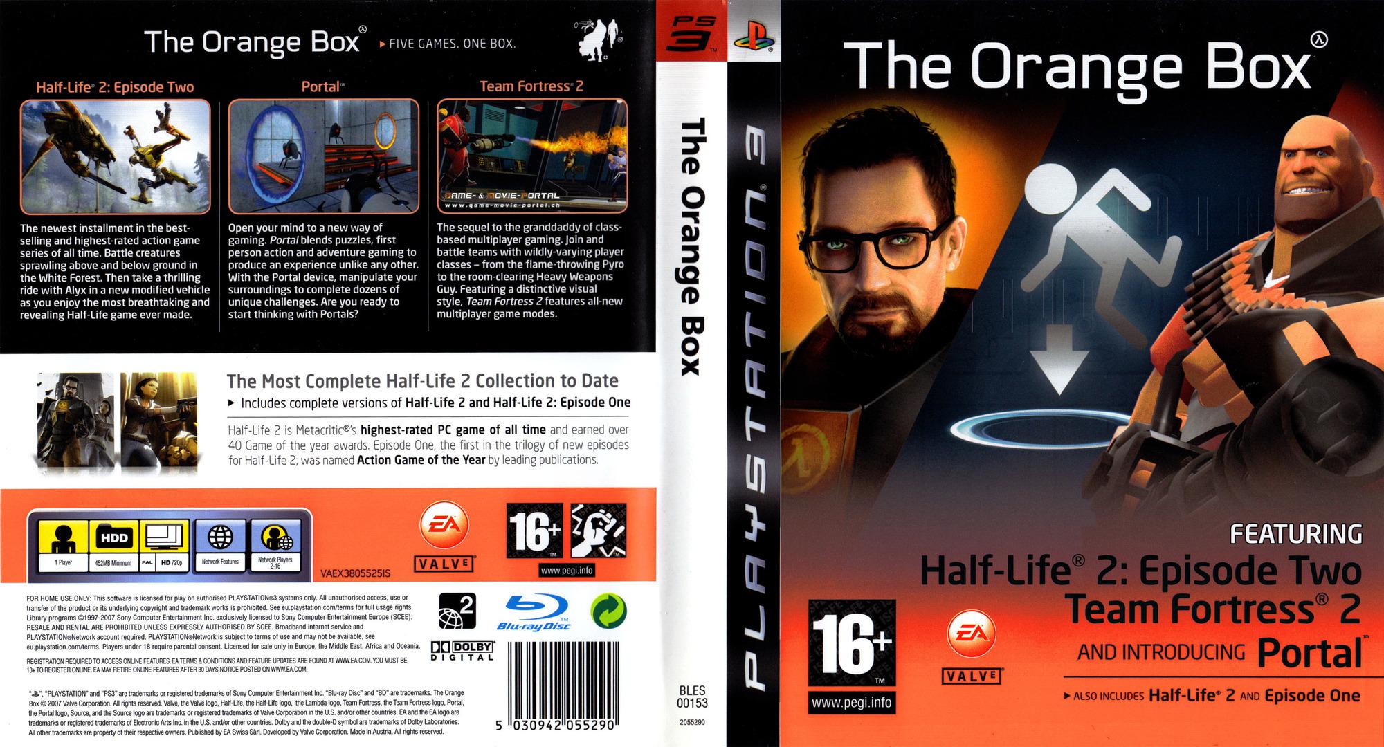 The Orange Box PS3 coverfullHQ2 (BLES00153)