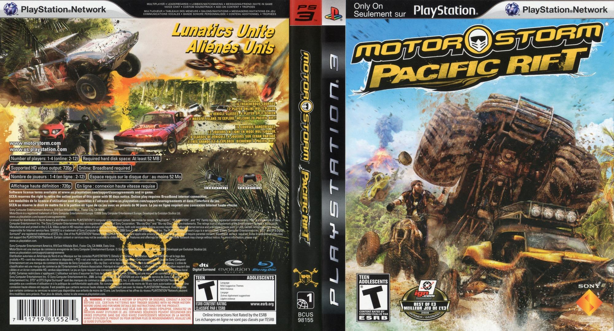 MotorStorm: Pacific Rift PS3 coverfullHQ2 (BCUS98155)