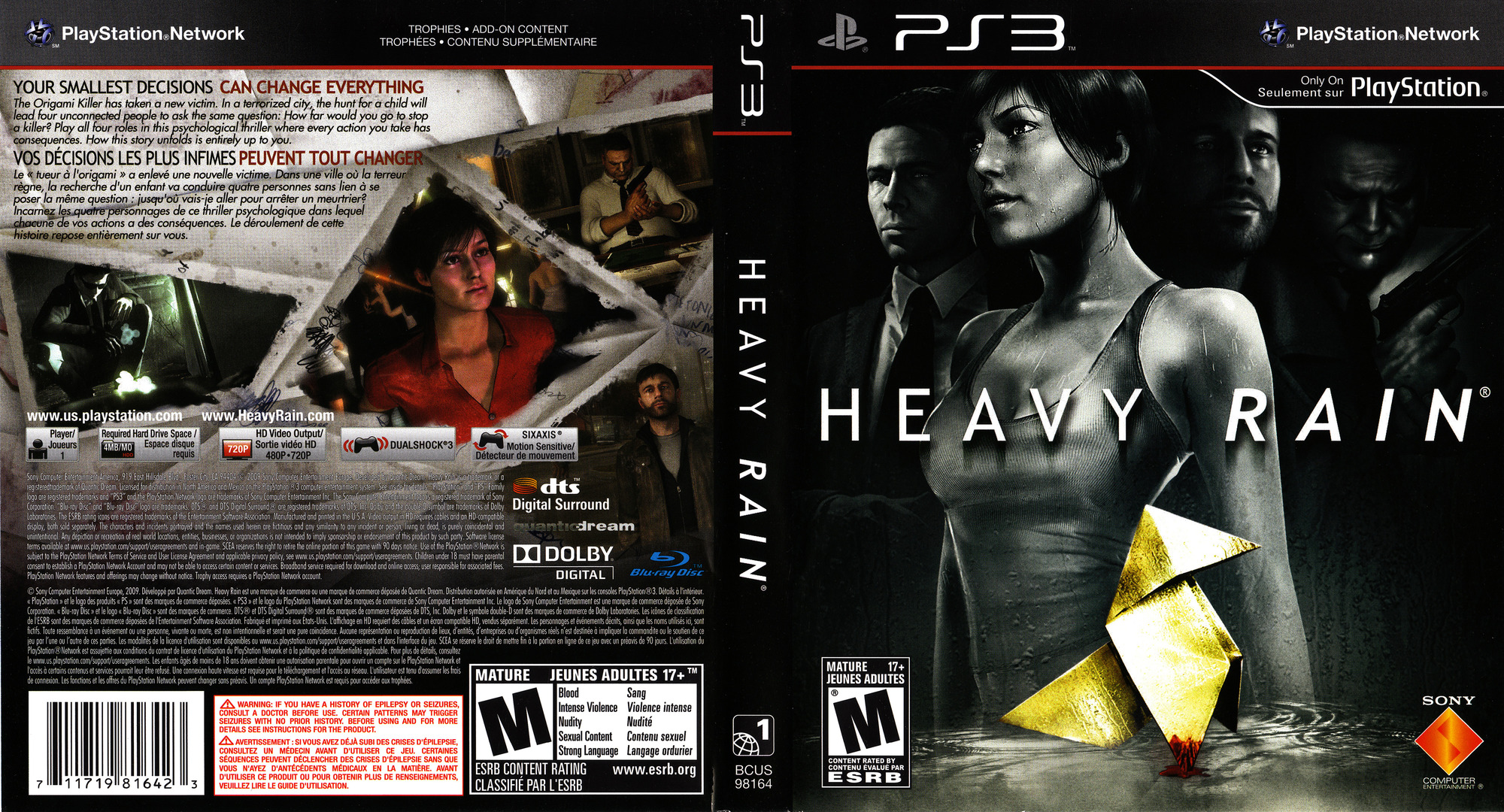 Heavy Rain PS3 coverfullHQ2 (BCUS98164)
