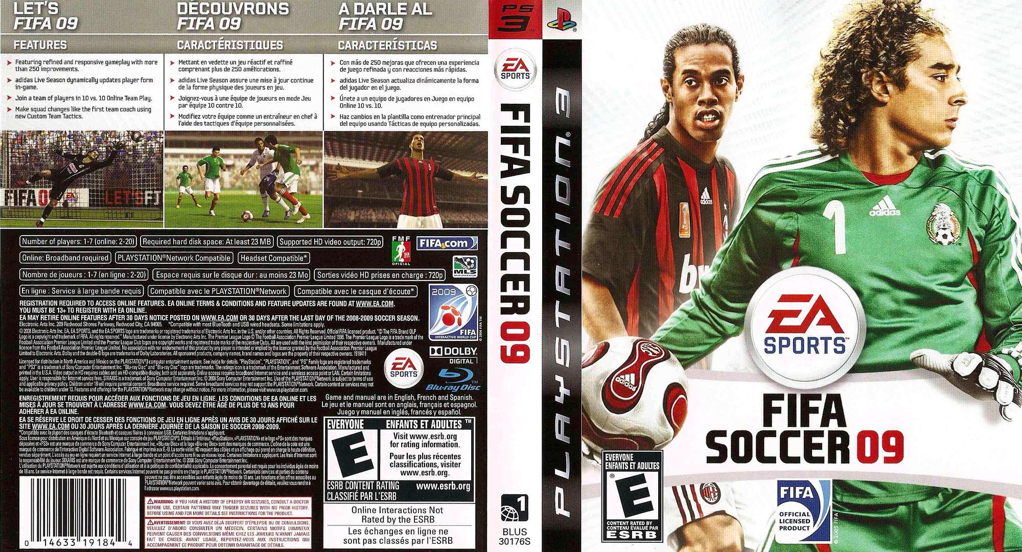 FIFA Soccer '09 PS3 coverfullHQ2 (BLUS30176)