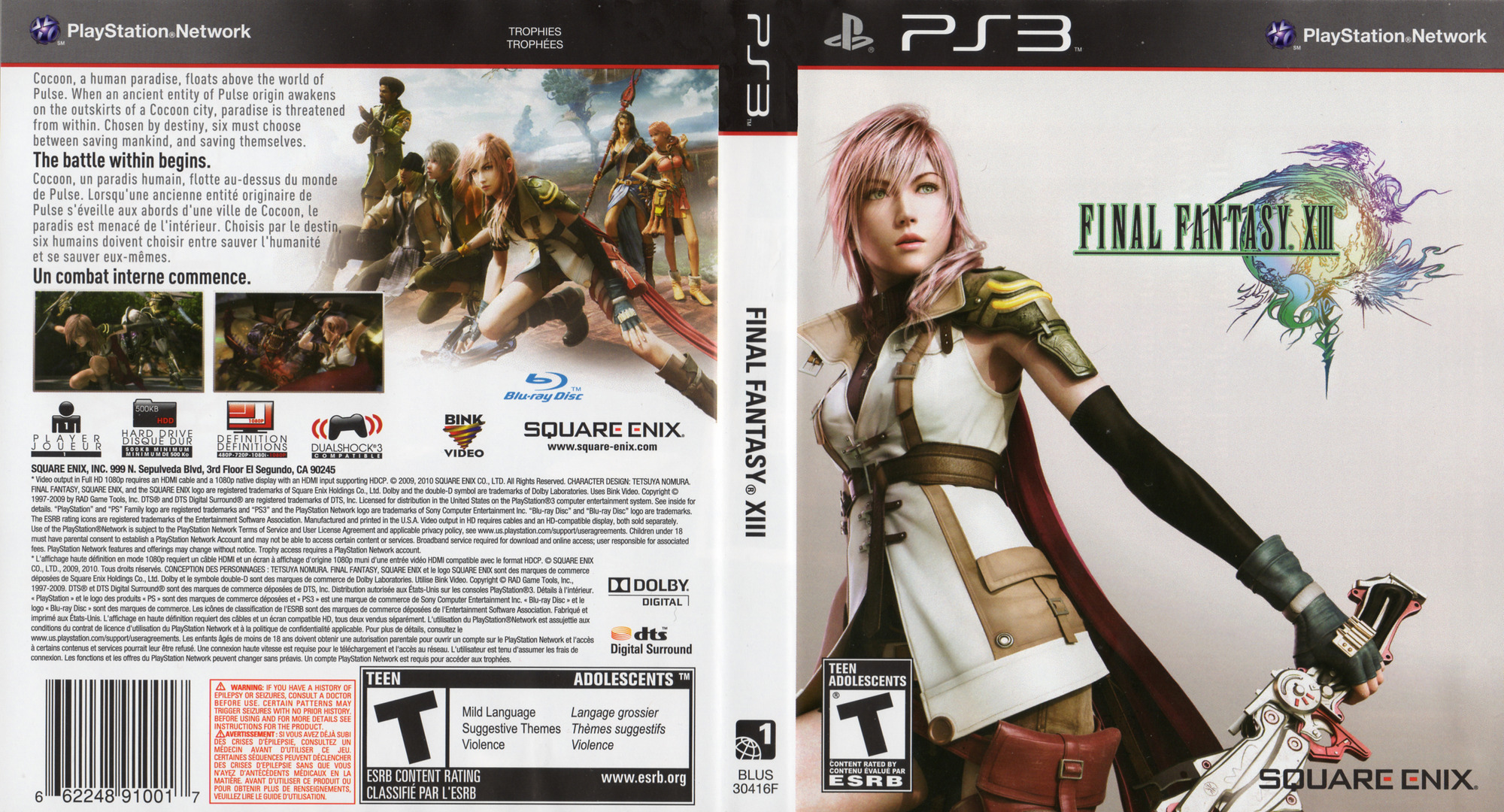 Final Fantasy XIII PS3 coverfullHQ2 (BLUS30416)