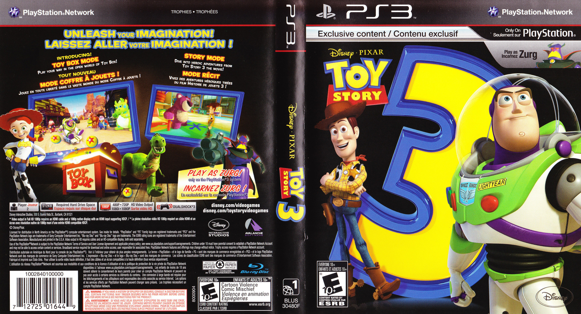 Toy Story 3 PS3 coverfullHQ2 (BLUS30480)
