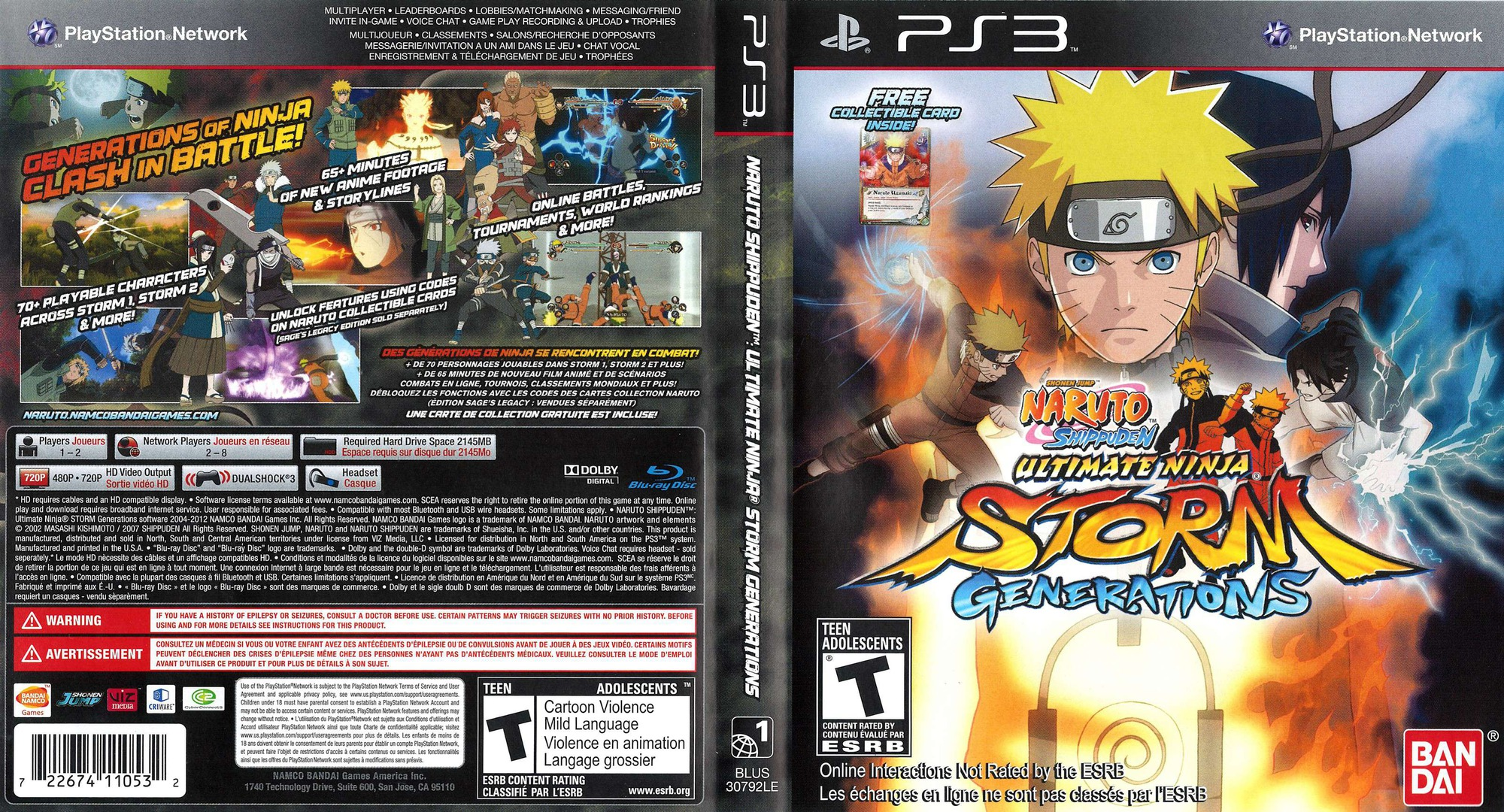 Naruto Shippuden: Ultimate Ninja Storm Generations PS3 coverfullHQ2 (BLUS30792)