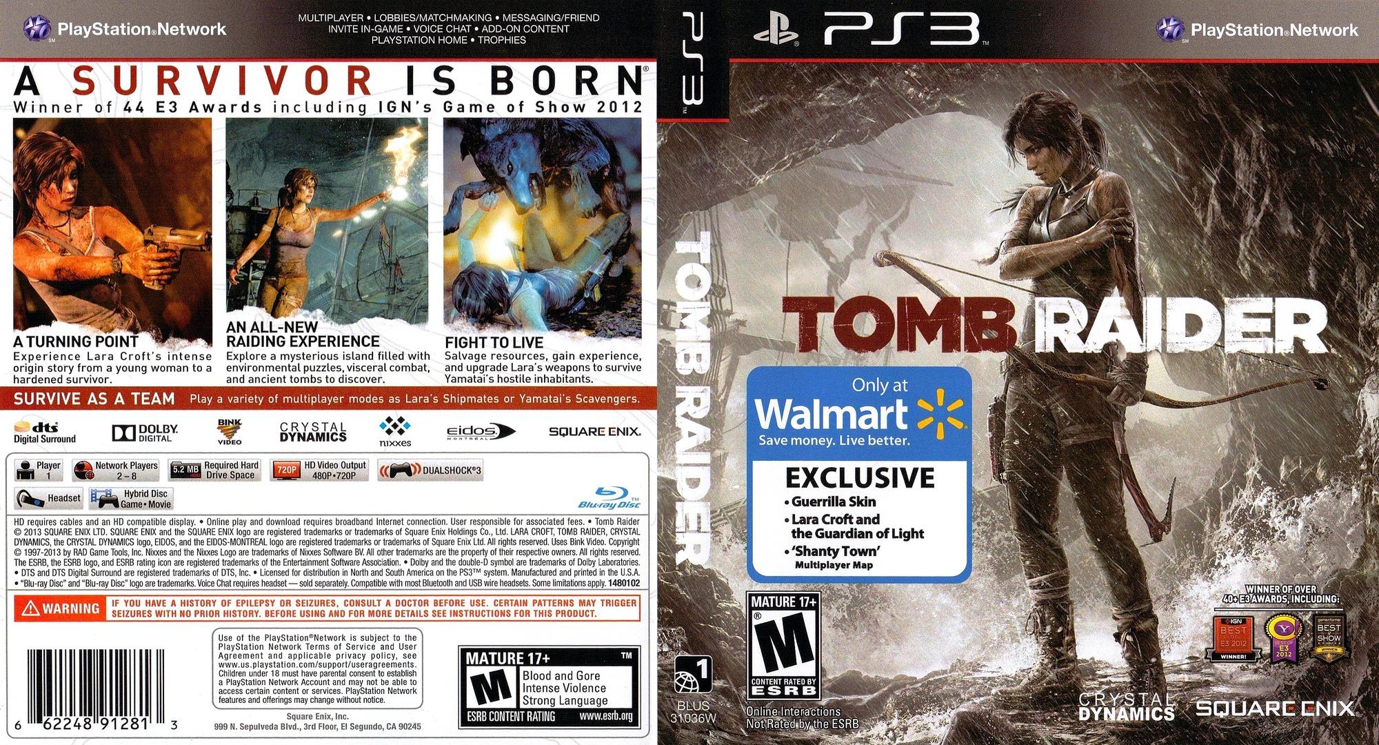 Tomb Raider PS3 coverfullHQ2 (BLUS31036)
