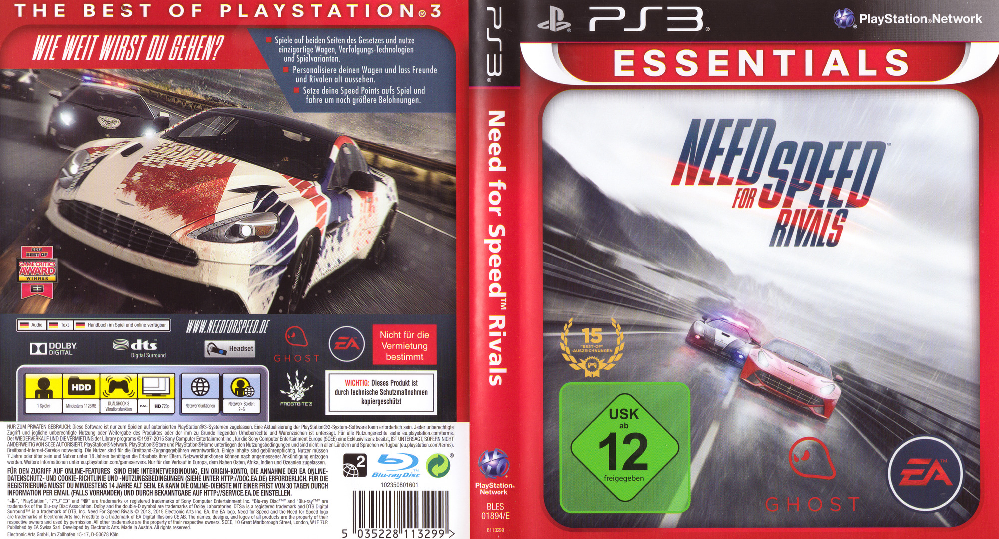 Need for Speed: Rivals PS3 coverfullHQB (BLES01894)