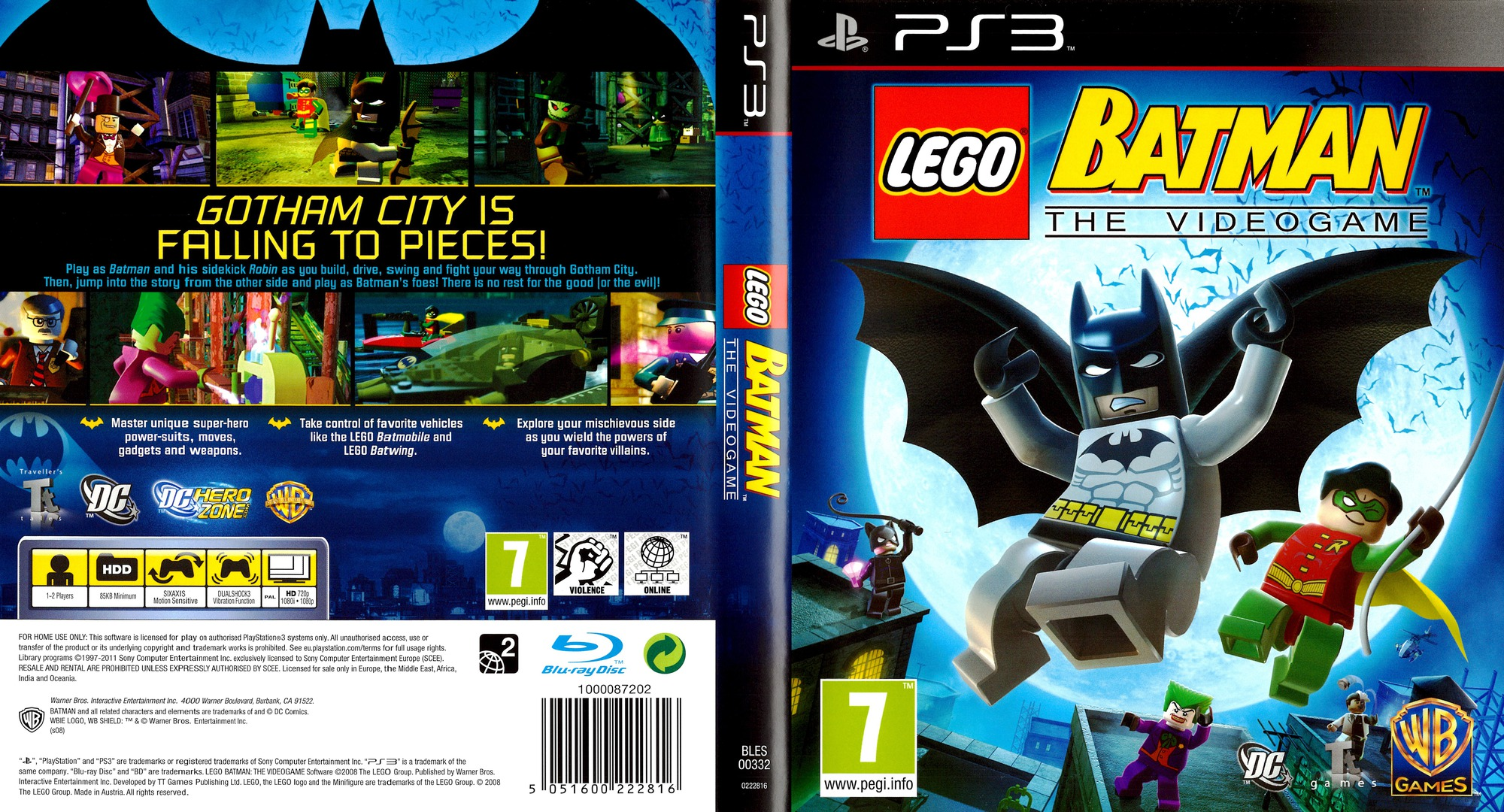 LEGO Batman: The Videogame PS3 coverfullHQB (BLES00332)