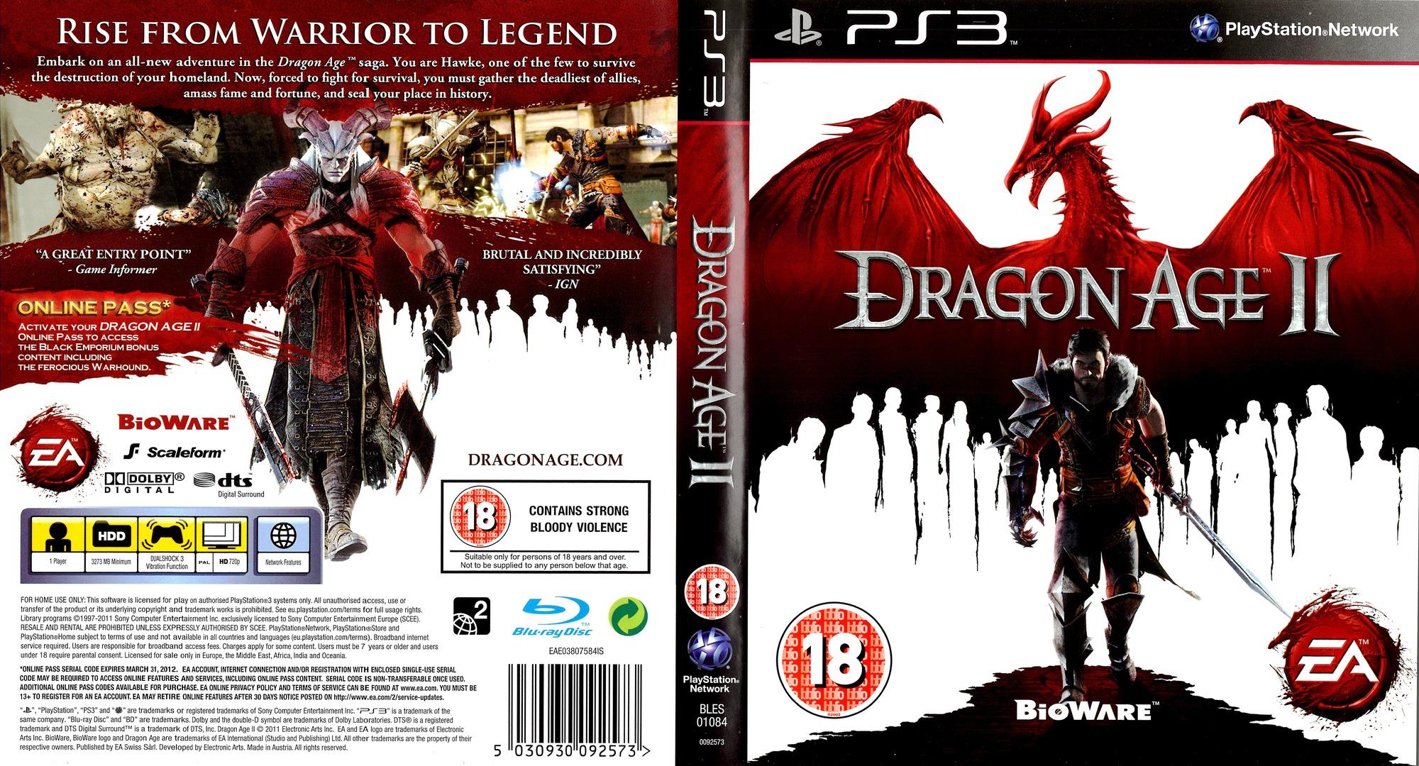 Dragon Age II (Bioware Signature Edition) PS3 coverfullHQB (BLES01084)
