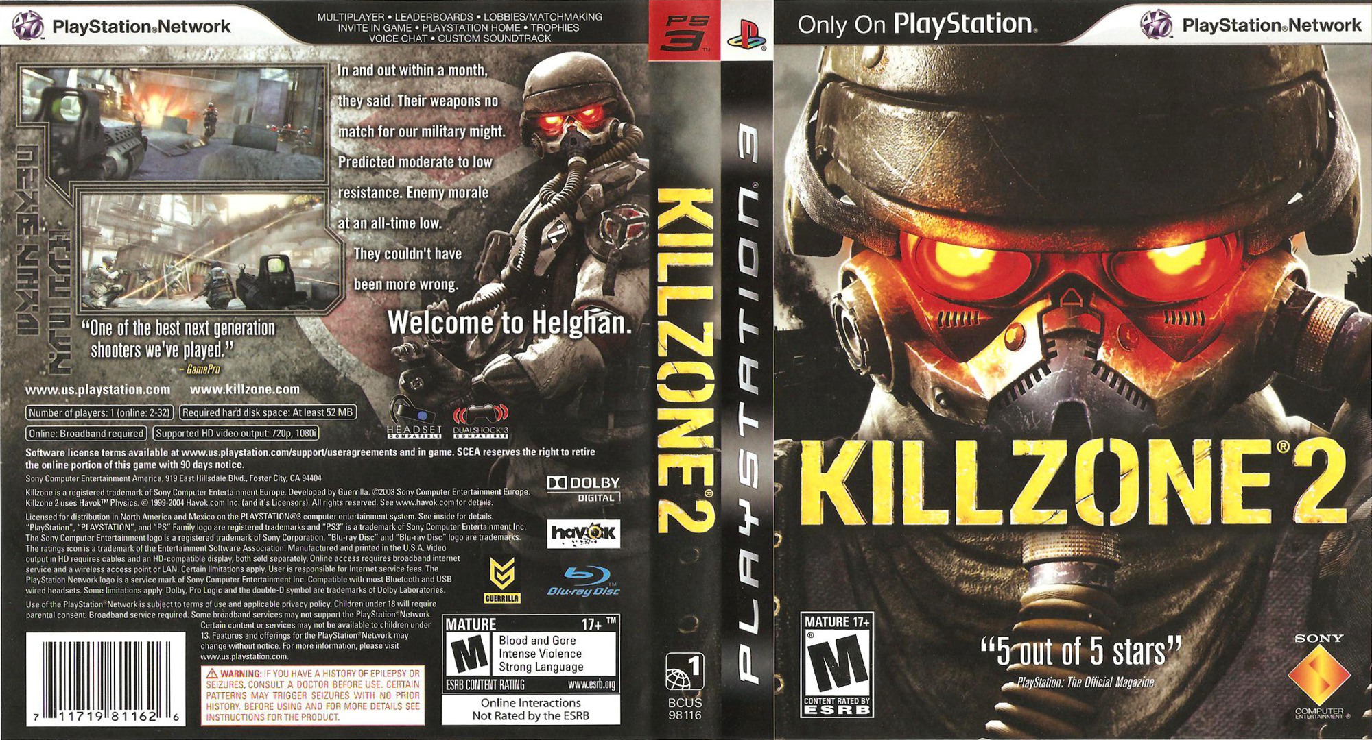 Killzone Trilogy PS3 coverfullHQB (BCUS98116)