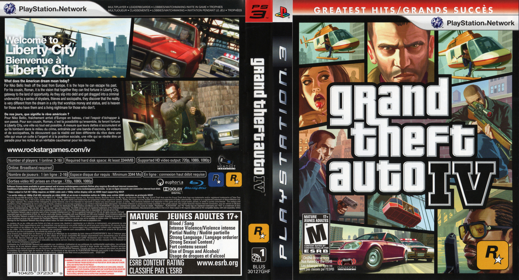 Grand Theft Auto IV PS3 coverfullHQB (BLUS30127)