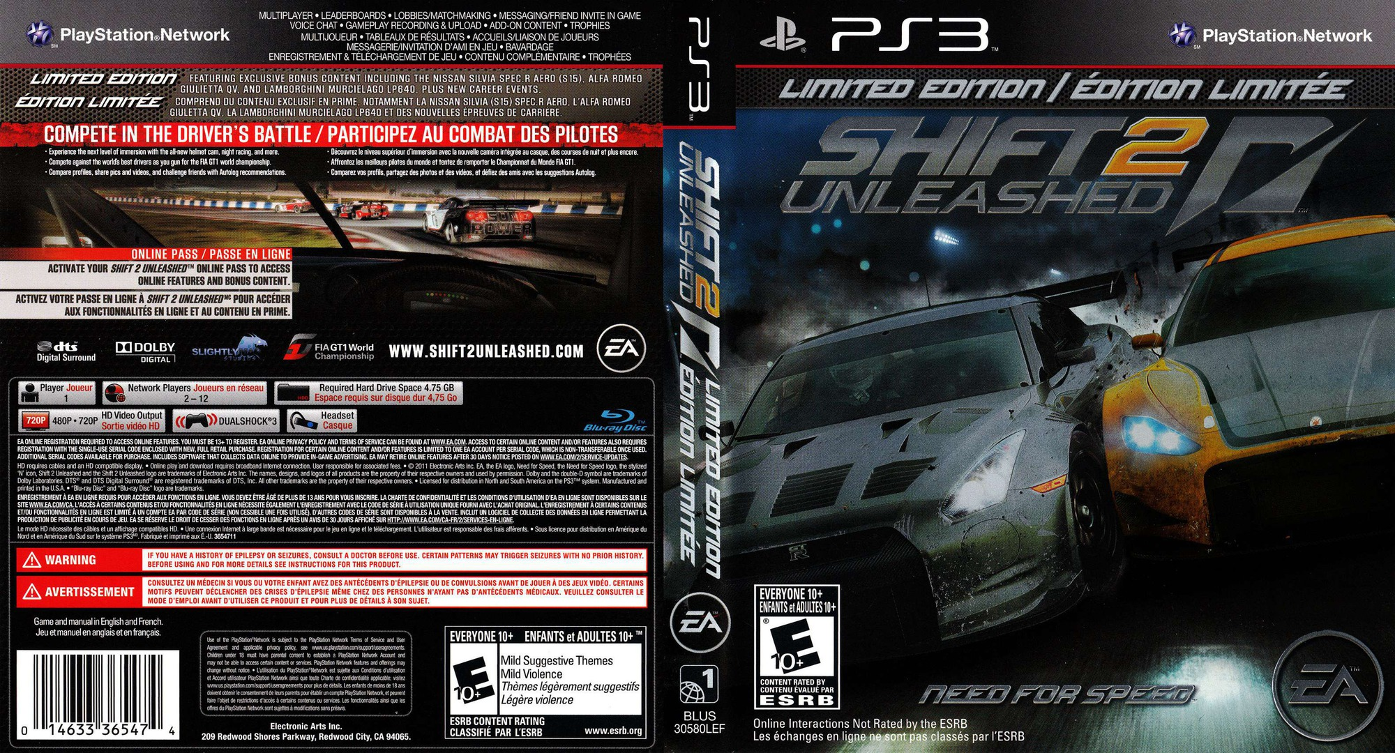Shift 2: Unleashed PS3 coverfullHQB (BLUS30580)