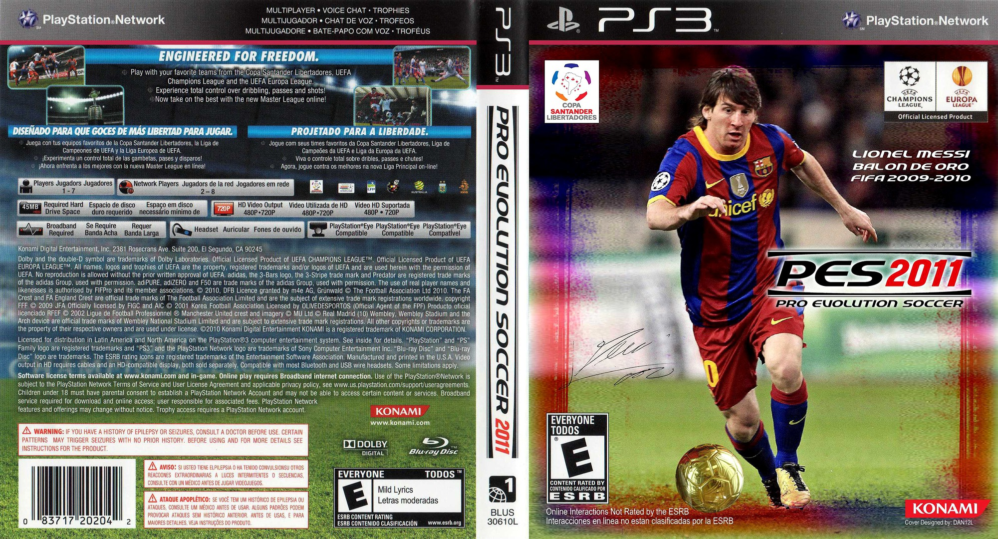 Pro Evolution Soccer 2011 PS3 coverfullHQB (BLUS30610)