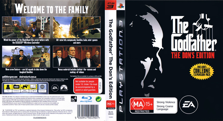 The Godfather: The Don's Edition PS3 coverfullM (BLES00043)