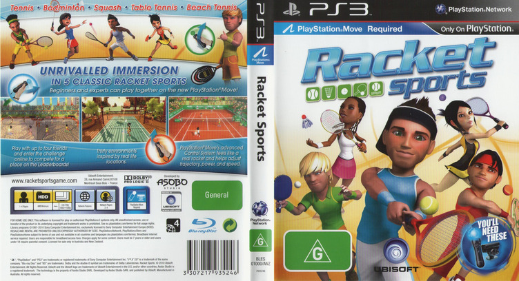 Racket Sports PS3 coverfullM (BLES01000)