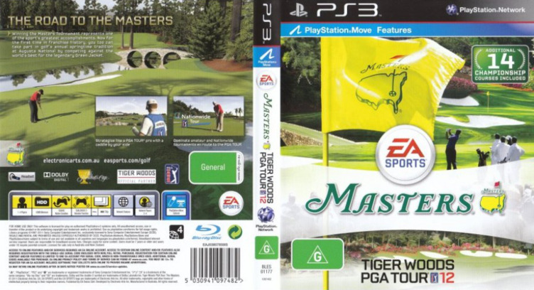 Tiger Woods PGA Tour 12: The Masters PS3 coverfullM (BLES01177)