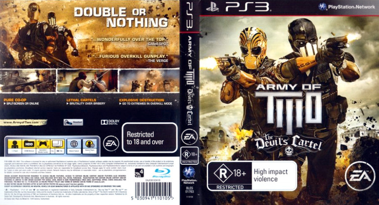 Army of Two: The Devil's Cartel PS3 coverfullM (BLES01763)