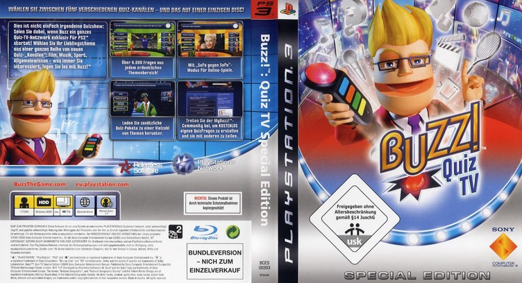 Buzz!: Quiz TV (Special Edition) PS3 coverfullM (BCES00303)