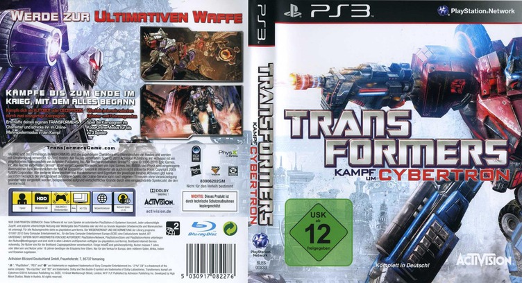 Transformers: Kampf um Cybertron PS3 coverfullM (BLES00833)