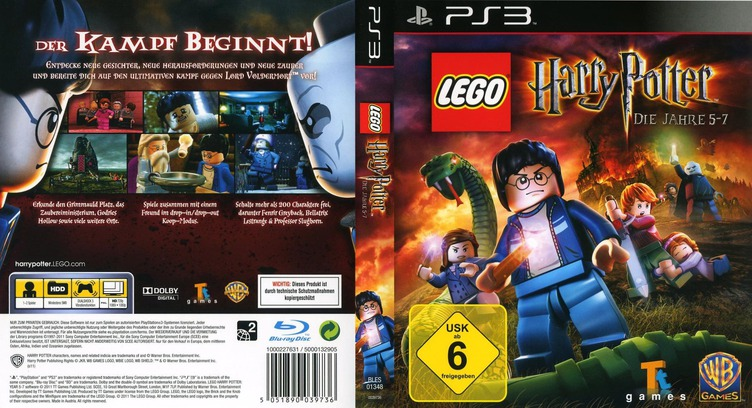 LEGO Harry Potter: Die Jahre 5-7 PS3 coverfullM (BLES01348)