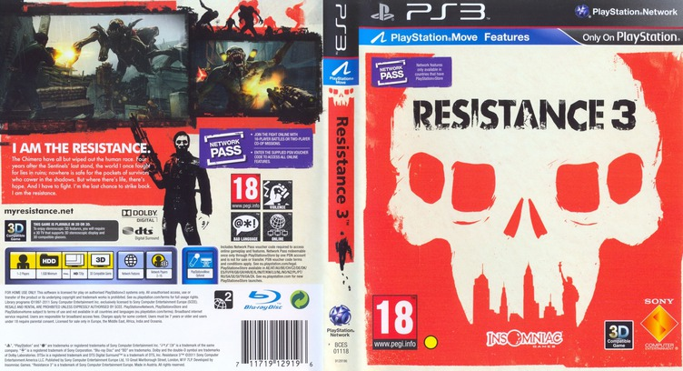 Resistance 3 PS3 coverfullM (BCES01118)