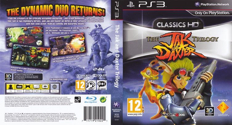 Jak & Daxter The Trilogy PS3 coverfullM (BCES01325)