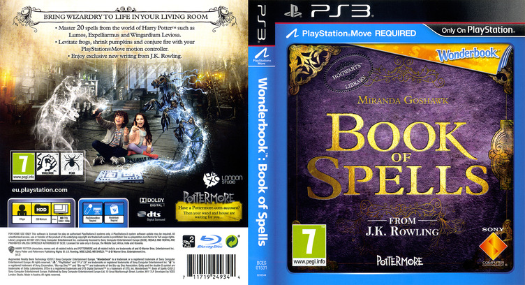 Wonderbook: Book of Spells PS3 coverfullM (BCES01531)