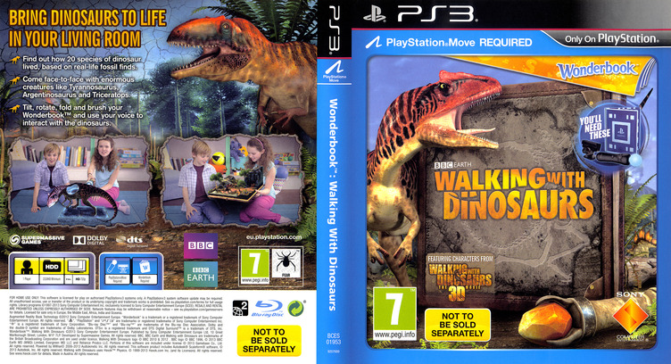 Wonderbook: Walking with Dinosaurs PS3 coverfullM (BCES01953)