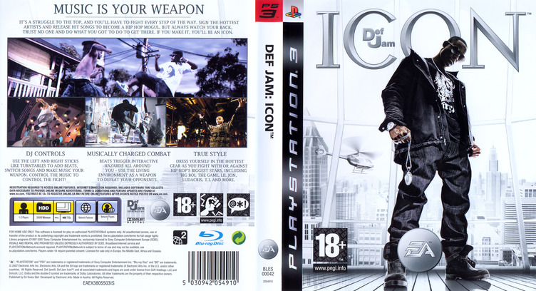 Def Jam: Icon PS3 coverfullM (BLES00042)
