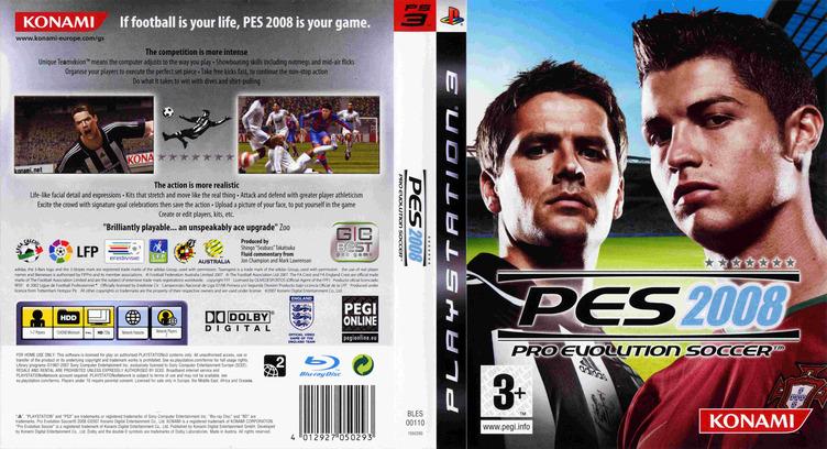 Pro Evolution Soccer 2008 PS3 coverfullM (BLES00110)