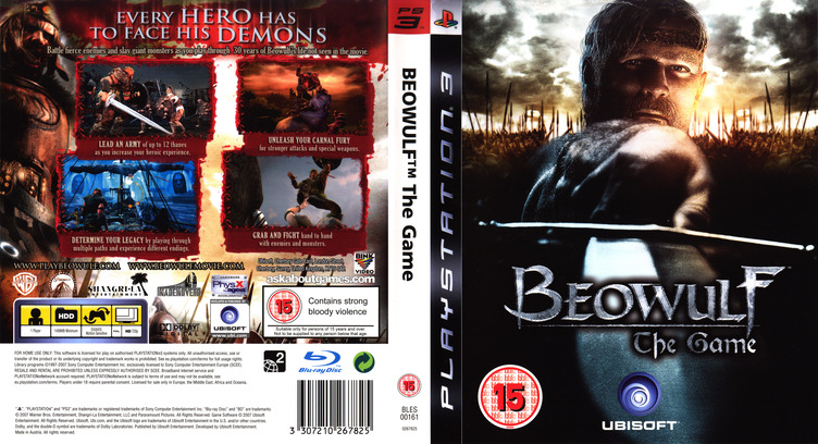 Beowulf: The Game PS3 coverfullM (BLES00161)
